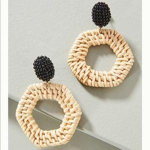 NWT Anthropologie Jana Wicker Drop Earrings